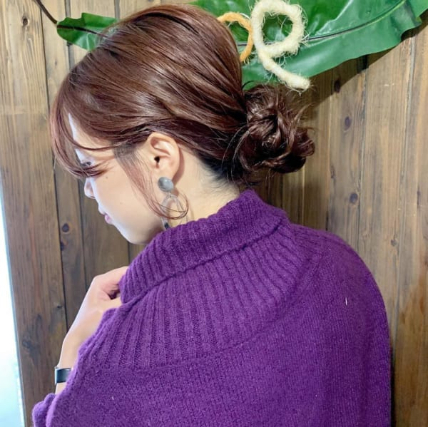 ロングヘアのまとめ髪⑤お団子4