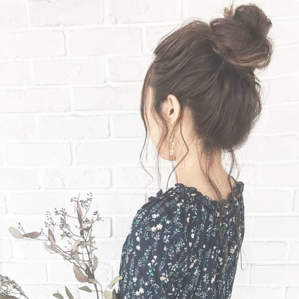 ロングヘアのまとめ髪⑤お団子5