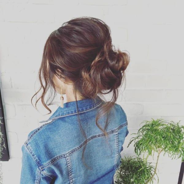 ロングヘアのまとめ髪⑤お団子6