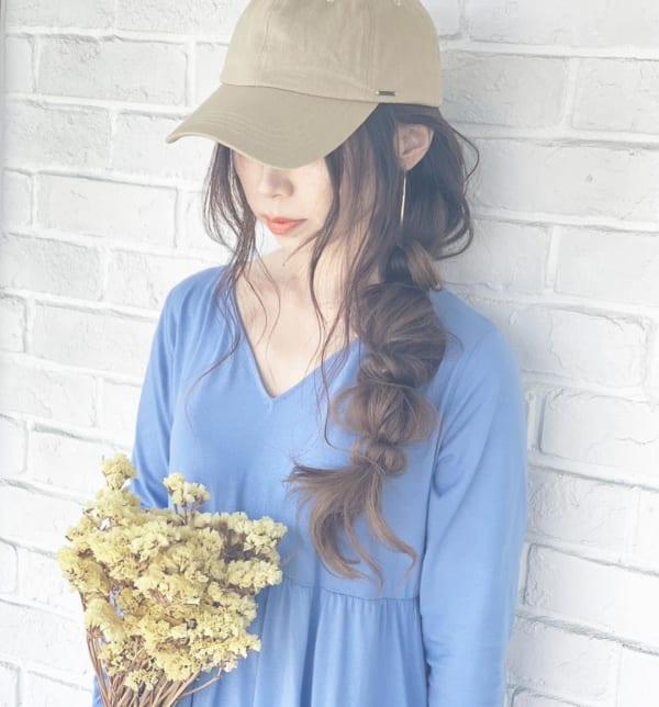 ロングヘアのまとめ髪①ポニーテール・編み込み10