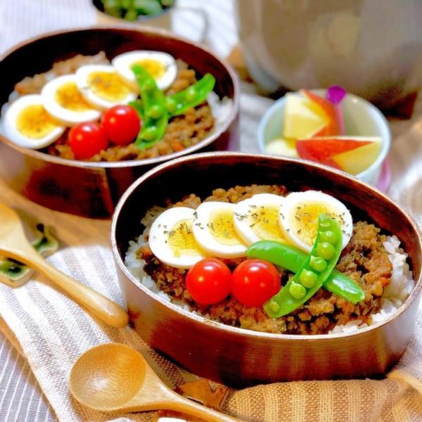 ゆで卵のお弁当2