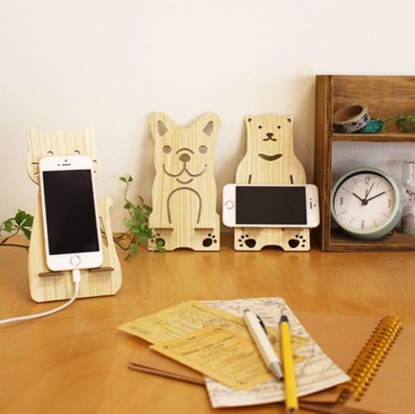 木製モバイルスタンド(CouCou)