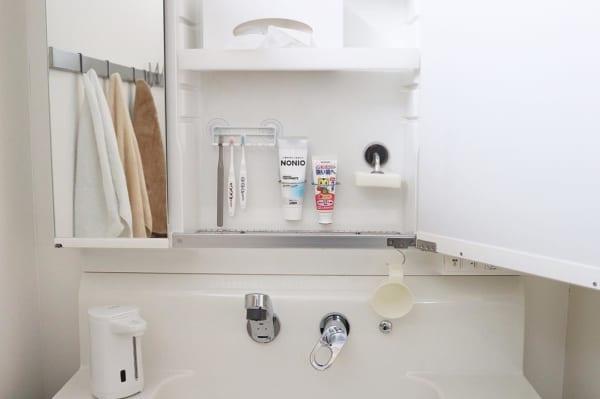 ⑧洗面所収納アイデア
