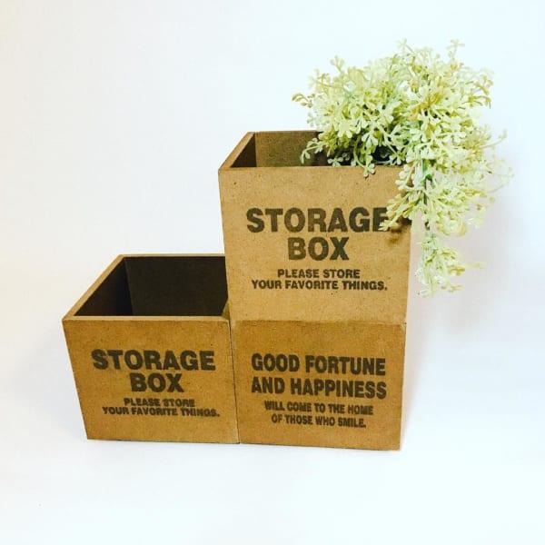 小物収納としても使える小物木製収納ボックス