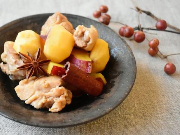 鶏肉と栗とさつまいもの煮物