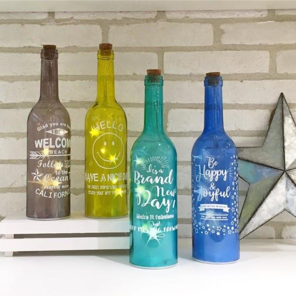 スマイル柄のボトルライト(CouCou)