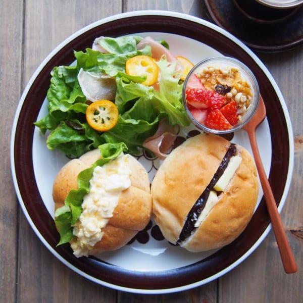 卵サンドとあんバターサンド