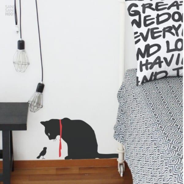 黒猫 ウォールステッカー