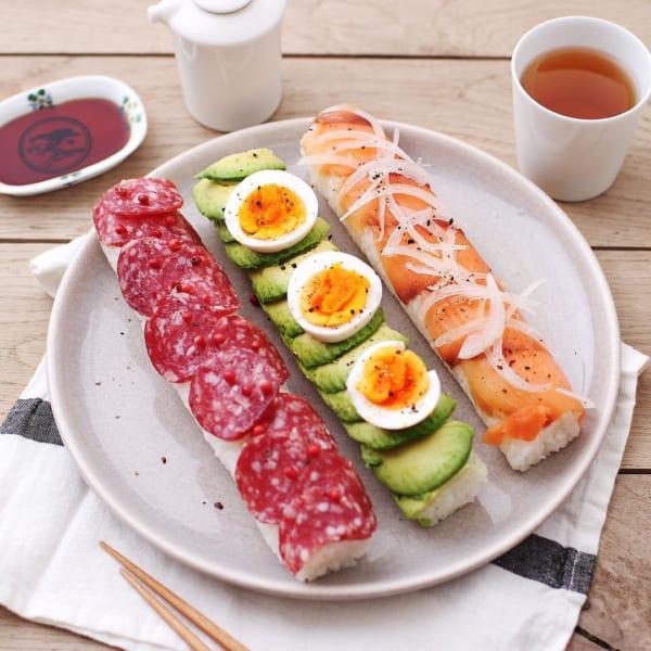カフェごはん⑤おしゃれなお寿司ロール