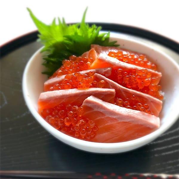 父の日 サーモンとイクラの海鮮丼