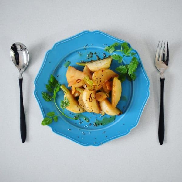 野菜をメインに!かぶのペペロンチーノ風