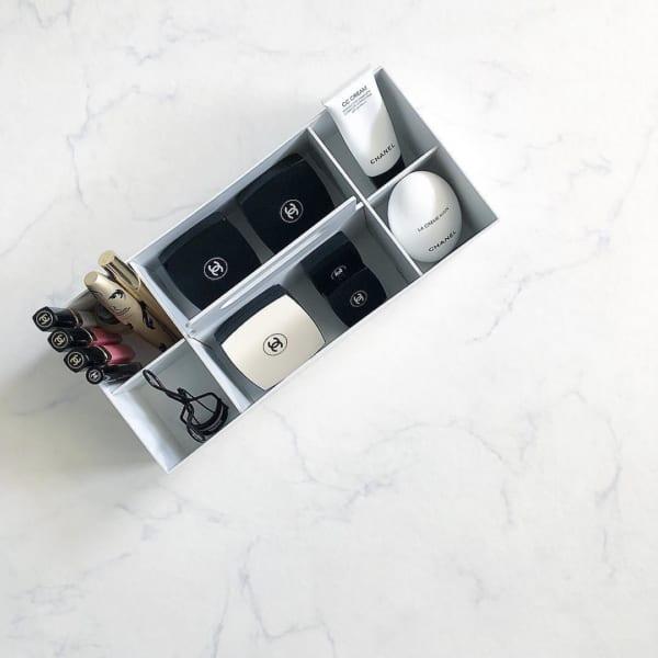 無印良品のポリプロピレンキャリーボックス コスメ収納