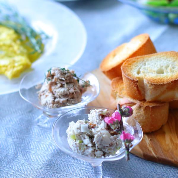 塩サバのリエットとポークリエット
