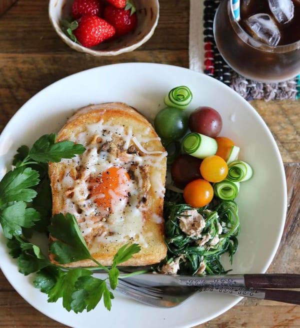 【レシピ付き】くり抜きトースト