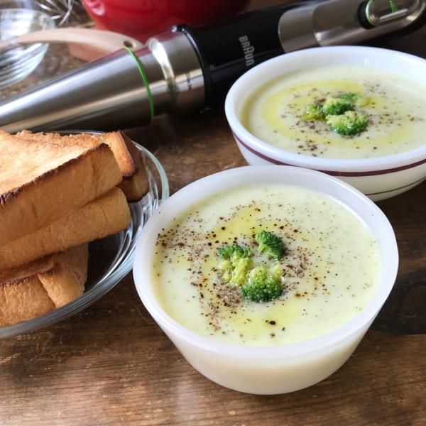 じゃがいもとブロッコリーのスープ