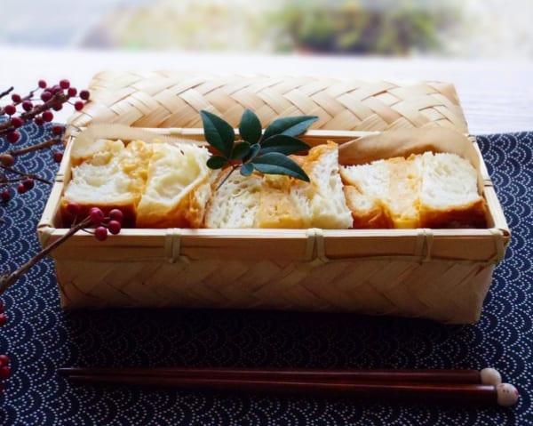 竹カゴのお弁当2