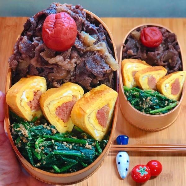 ボリューム重視の牛丼弁当