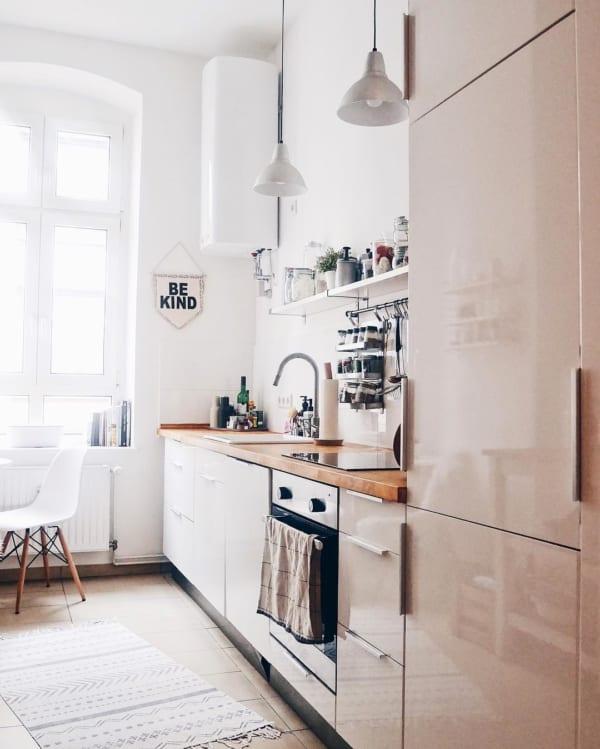 海外ホワイトインテリア実例:キッチン2