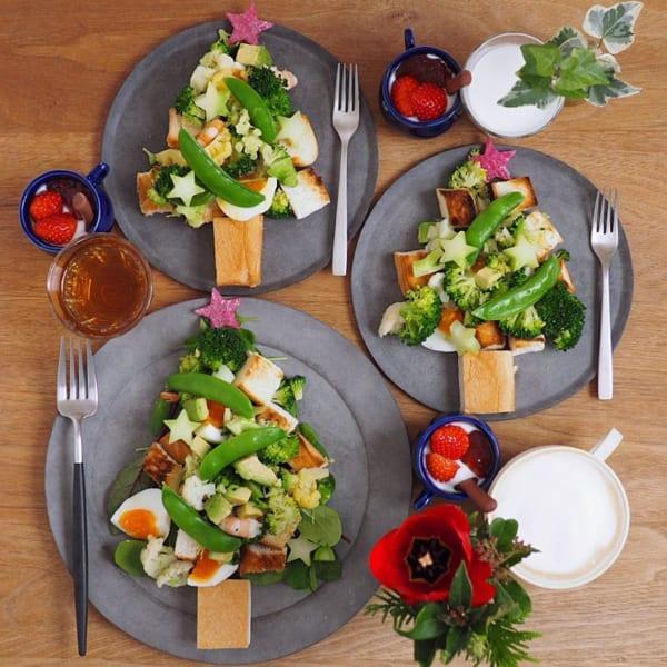 野菜たっぷりツリーパンサラダ