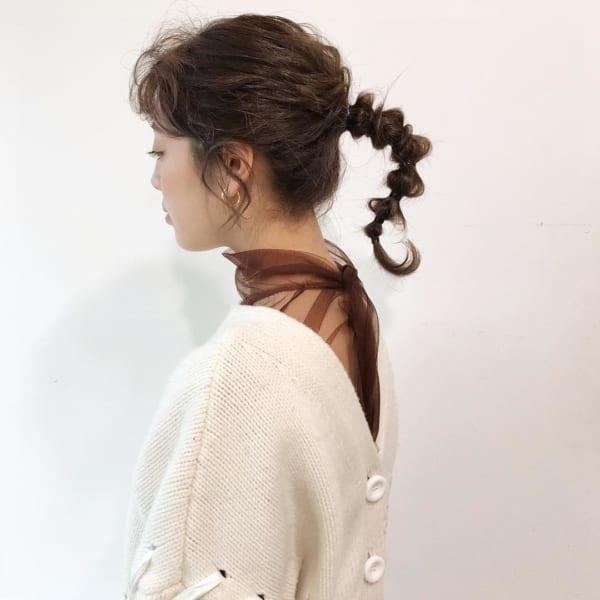 ミディアムのまとめ髪①ポニーテール10