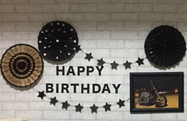 大人向けのお誕生日の飾り付け4