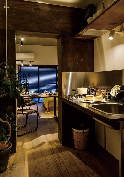 ワンルームのキッチンインテリア5