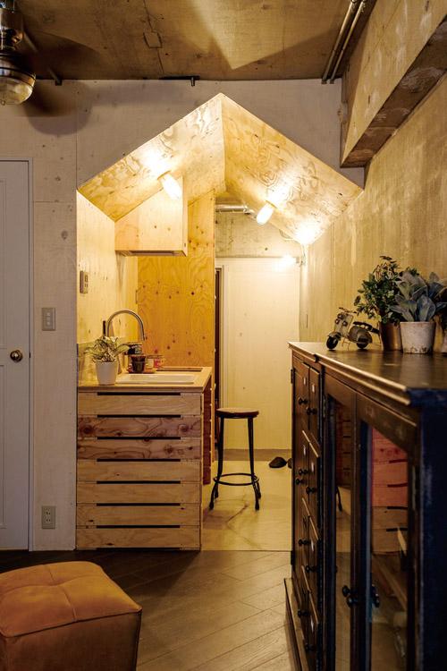 ワンルームのキッチンインテリア6