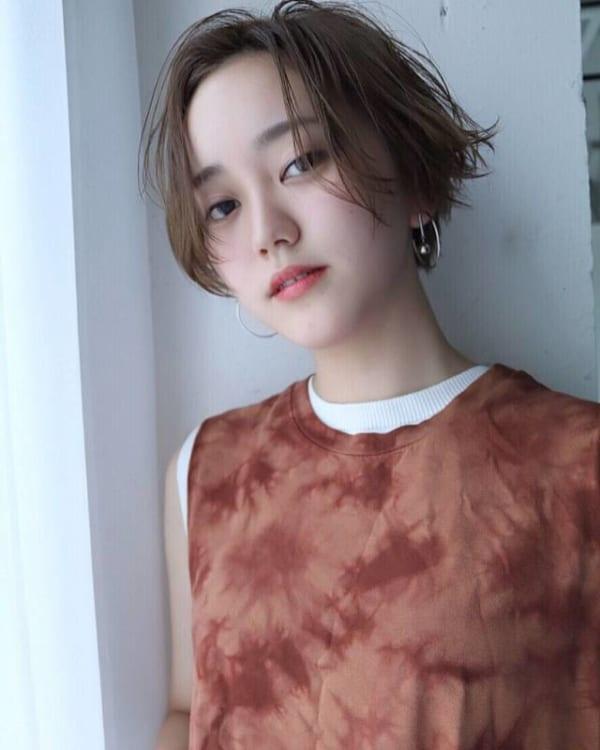 ベリーショートのパーマスタイル【前髪なし】5
