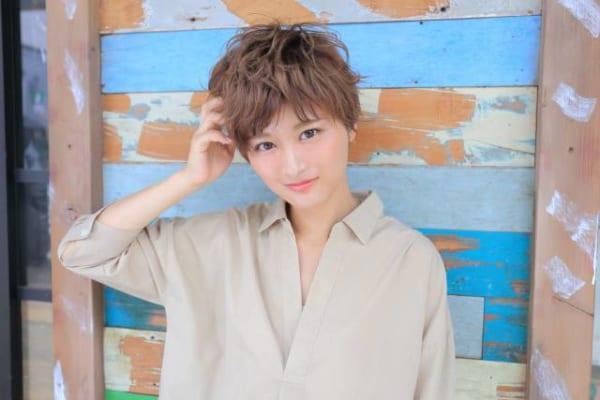 ベリーショートのパーマスタイル【前髪あり】6