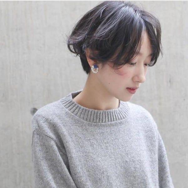 ベリーショートのパーマスタイル【前髪なし】2