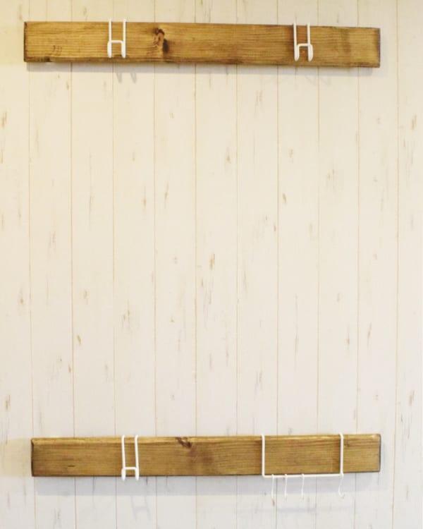 『ナゲシレール』で掛けるだけの収納DIY13