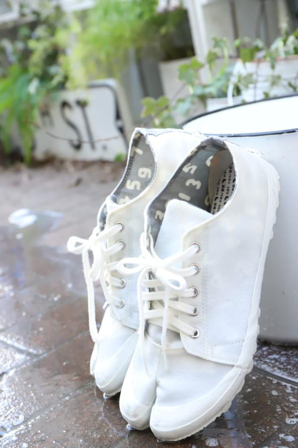 ダイソー オキシウォッシュとオキシフレッシュ 靴5
