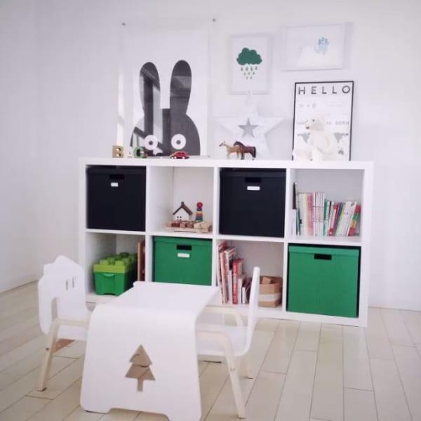 収納スペースも設けた子供部屋