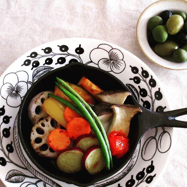 グリル野菜 煮込みハンバーグに合うおかず