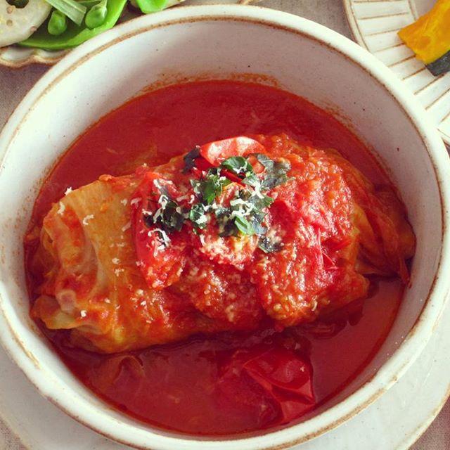 ロールキャベツトマト煮込み