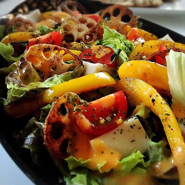 たっぷり野菜の豆腐サラダ