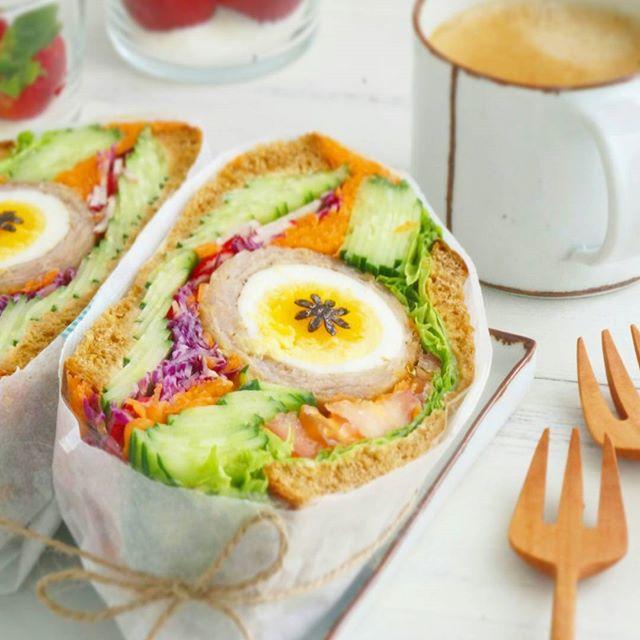 おしゃれ サンドイッチ 卵2