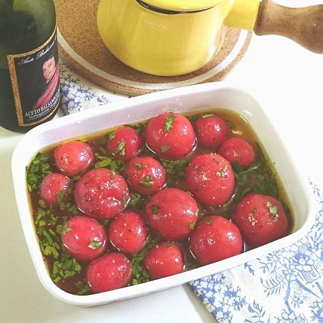 トマトのマリネ 照り焼きハンバーグに合うおかず
