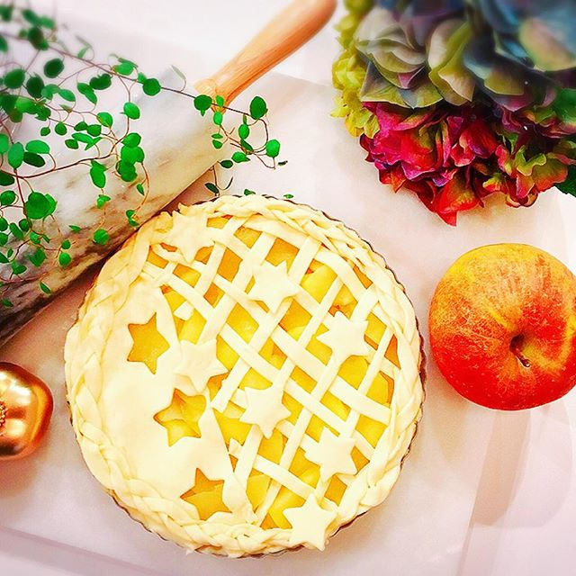 天の川のアップルパイケーキ