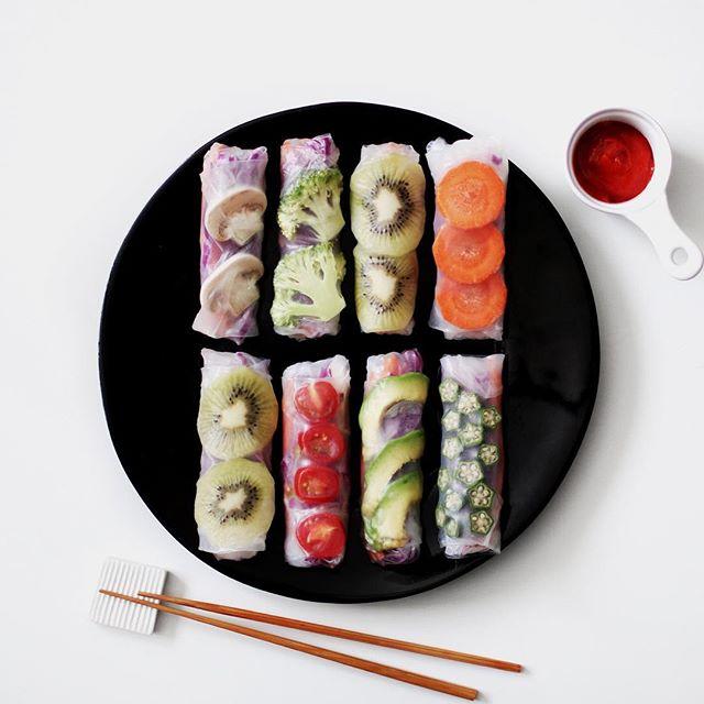 野菜たっぷり!サラダ生春巻き