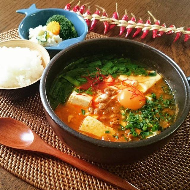 韓流納豆鍋チョングッチャン