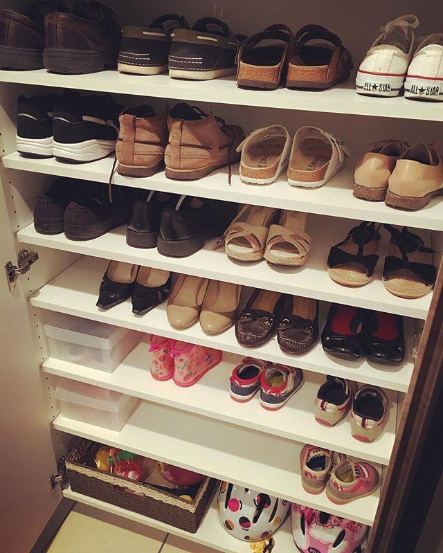 靴用クローゼット内を整理して使いやすく