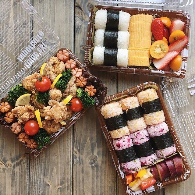 和風弁当の定番・おにぎりを使ったピクニック弁当2