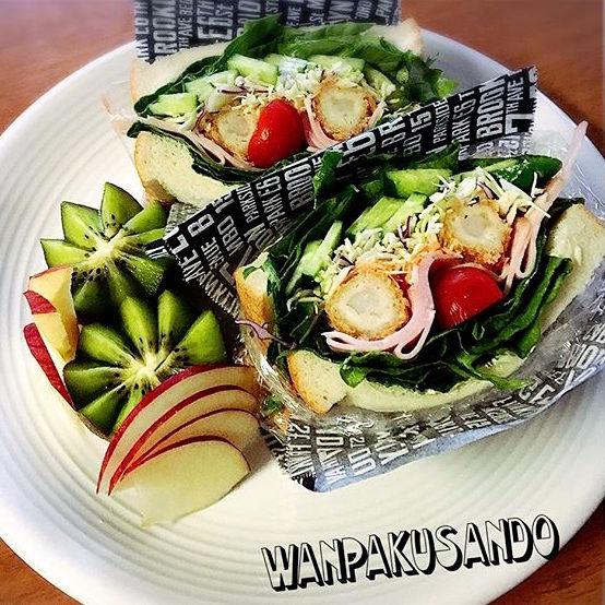 おしゃれ サンドイッチ 魚6
