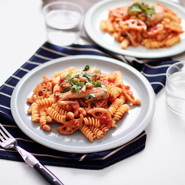野菜 トマトソース パスタ11
