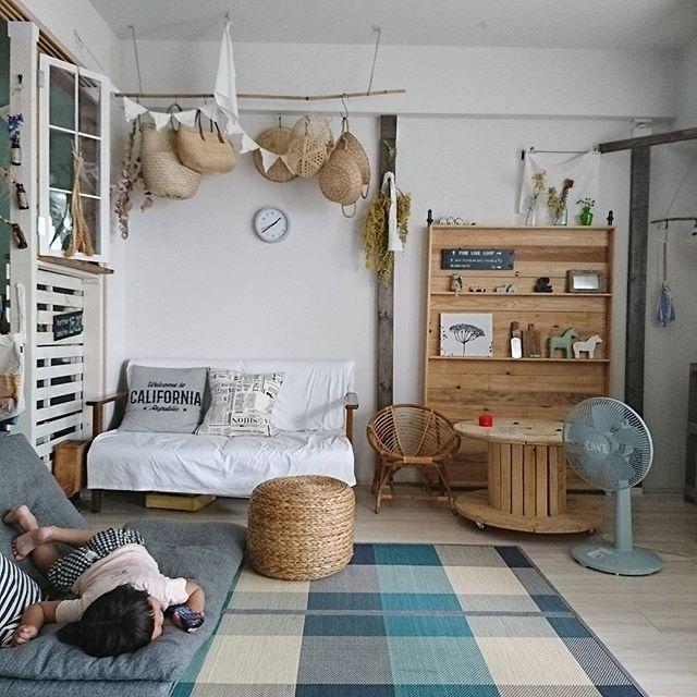 女性らしい(北欧・ナチュラル)お部屋に合う扇風機7