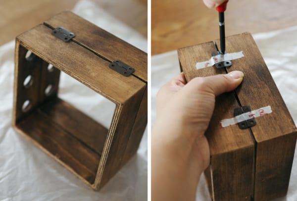 《ダイソー》試験管ボックスをリメイク9