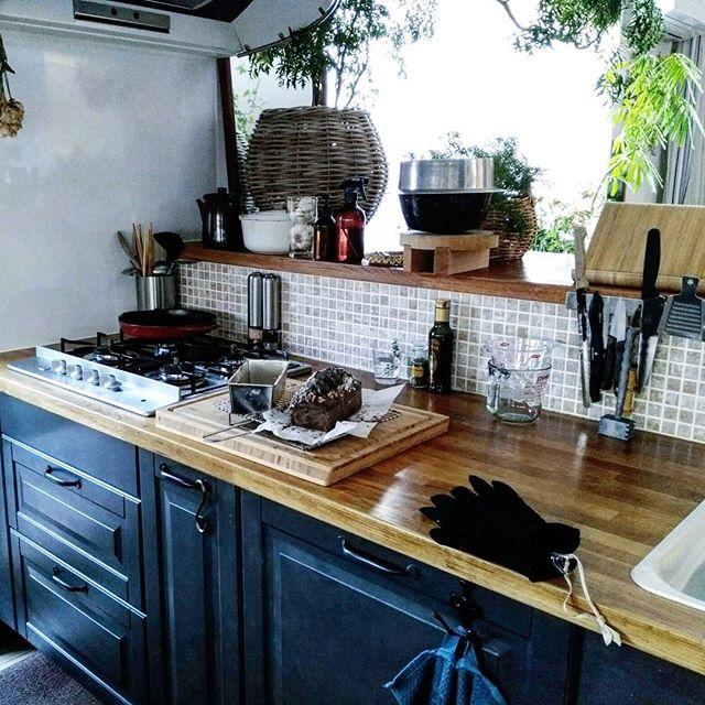 カフェ風キッチンを賃貸で作る