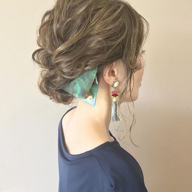 ベージュの髪色 ロング6