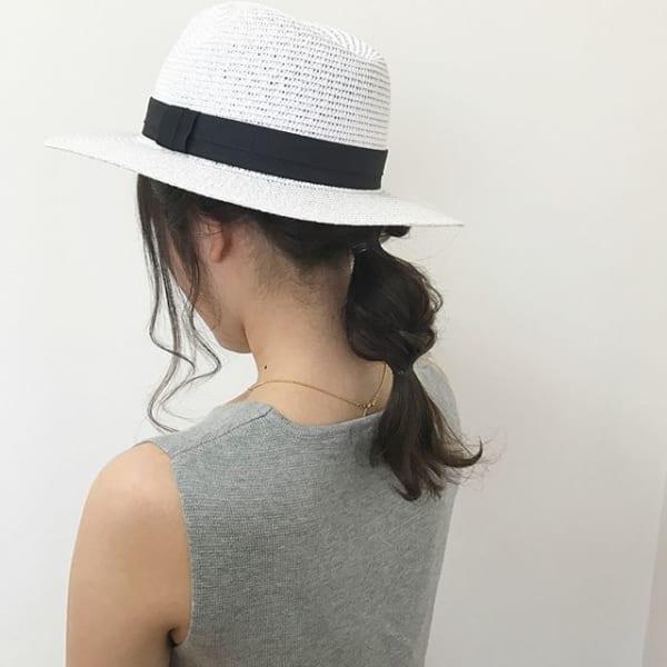 夏にぴったりのミディアムヘアアレンジ5